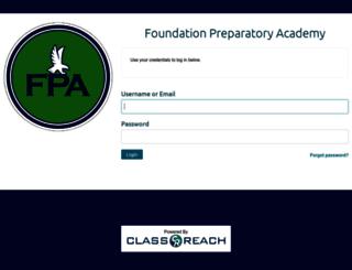 foundationprep.classreach.com screenshot