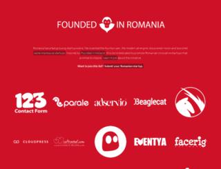 foundedinromania.com screenshot