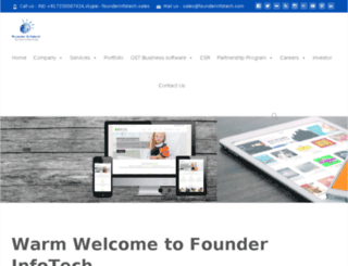 founderinfotech.com screenshot