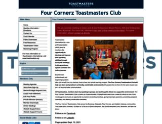 fourcornerz.toastmastersclubs.org screenshot