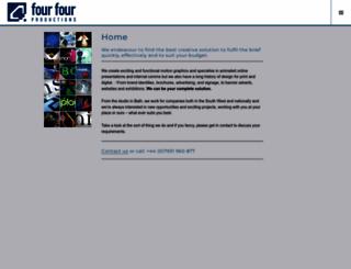 fourfourproductions.co.uk screenshot