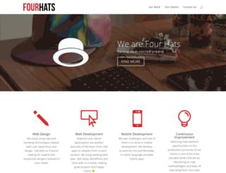 fourhats.com.ar screenshot