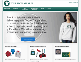 fourironapparel.com screenshot