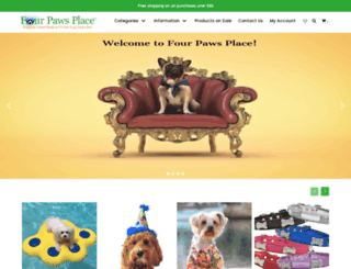 fourpawsplace.com screenshot