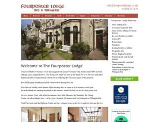 fourposterlodge.co.uk screenshot