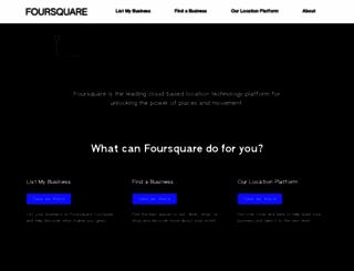 foursquare.com screenshot