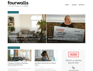 fourwalls.rentler.com screenshot