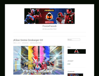 fourzefansub.wordpress.com screenshot