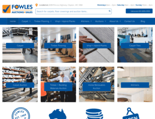 fowlesauctions.com.au screenshot
