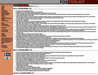 fox-toolkit.org screenshot