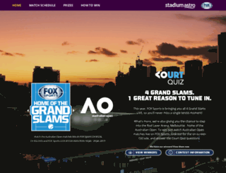 foxaustralianopen.stadiumastro.com screenshot