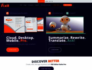 foxitsoftware.com screenshot