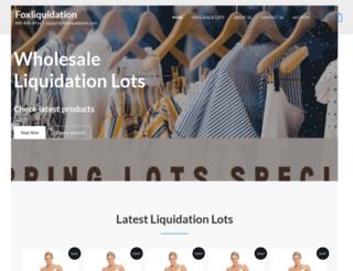 foxliquidation.com screenshot