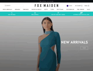 foxmaiden.com.au screenshot