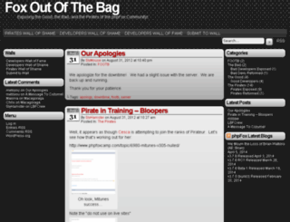 foxoutofthebag.com screenshot