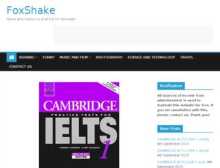 foxshake.com screenshot