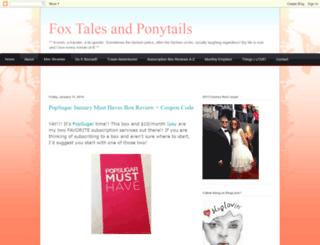 foxtalesponytails.blogspot.com screenshot