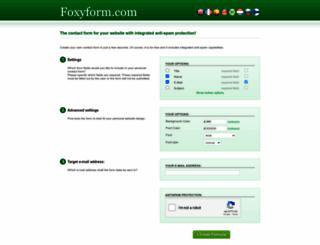 foxyform.com screenshot