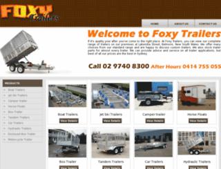 foxytrailers.com.au screenshot