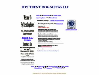 foytrentdogshows.com screenshot
