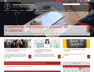 fpharm.uniba.sk screenshot