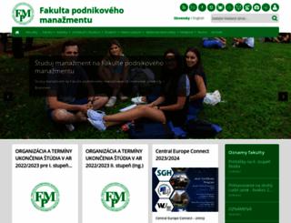 fpm.euba.sk screenshot