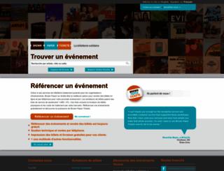 fr.brownpapertickets.com screenshot