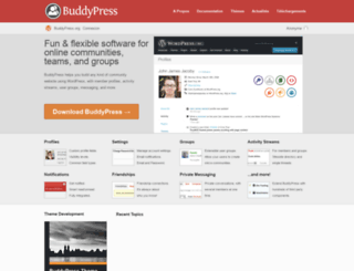fr.buddypress.org screenshot