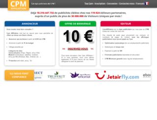 fr.cpmaffiliation.com screenshot