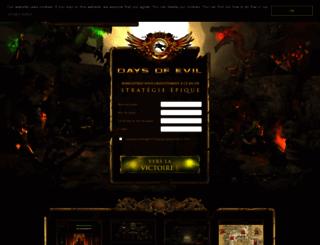 fr.daysofevil.com screenshot