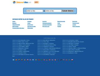 fr.distancevilles.net screenshot