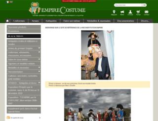 fr.empirecostume.com screenshot