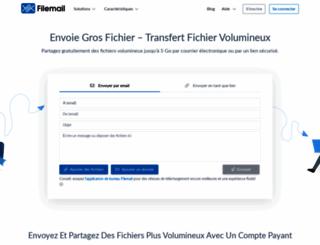 fr.filemail.com screenshot