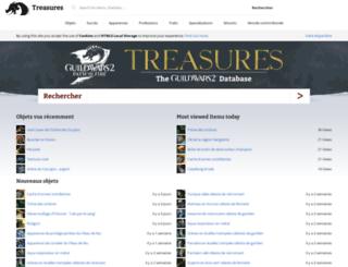 fr.gw2treasures.com screenshot