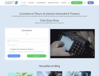 fr.heemskerkflowers.com screenshot