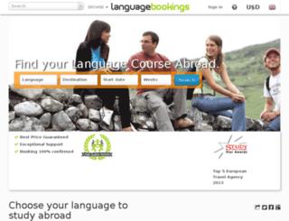 fr.languagebookings.com screenshot
