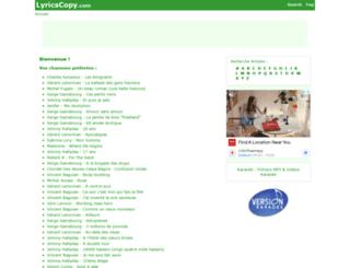 fr.lyrics-copy.com screenshot