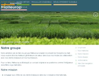 fr.malteurop.com screenshot