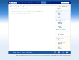 fr.netbeans.org screenshot