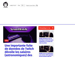 fr.newsmonkey.be screenshot