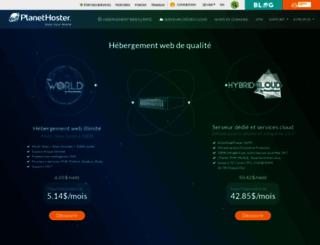 fr.planethoster.net screenshot