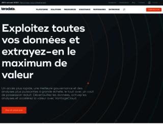 fr.teradata.com screenshot
