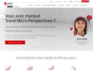fr.trendmicro-europe.com screenshot