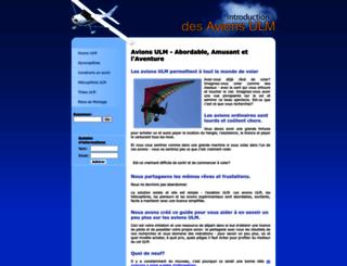 fr.ultralight-airplanes.info screenshot