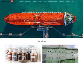 frachtcontor.com screenshot