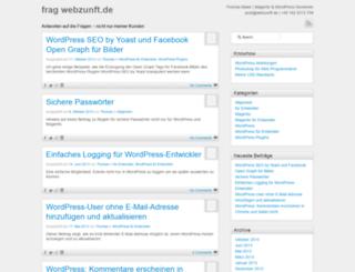 frag.webzunft.de screenshot