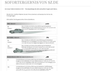 fragebogen-fahrschule.sueddeutsche.de screenshot