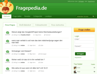 fragepedia.de screenshot