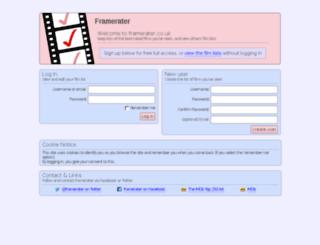 framerater.co.uk screenshot