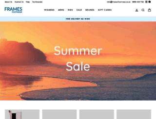 framesfootwear.co.nz screenshot
